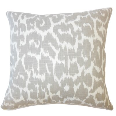 Wetzler Ikat Down Filled Linen Throw Pillow Size: 18 x 18, Color: Mineral