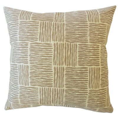 Latasha Striped Down Filled Throw Pillow Size: 22 x 22, Color: Driftwood