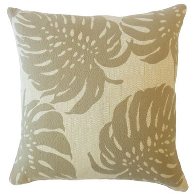 Maiah Floral Down Filled Throw Pillow Size: 20 x 20, Color: Driftwood