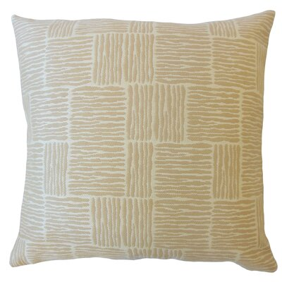 Latasha Striped Down Filled Throw Pillow Size: 18 x 18, Color: Sand