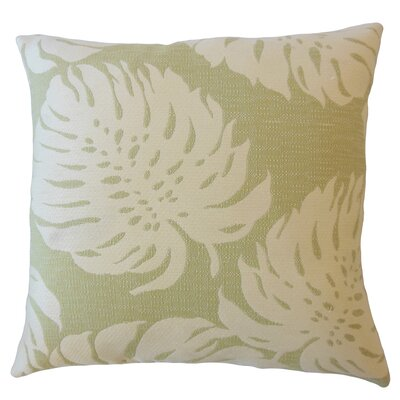Maiah Floral Down Filled Lumbar Pillow Color: Palm