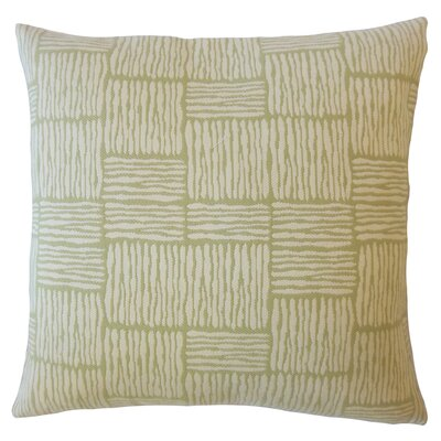 Latasha Striped Down Filled Lumbar Pillow Color: Palm