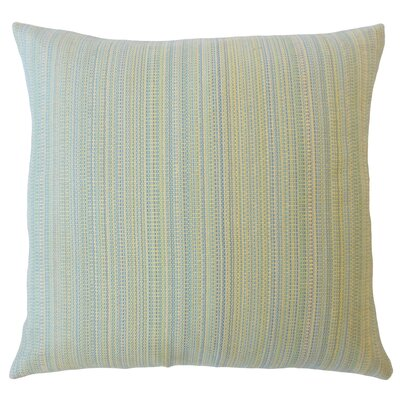 Voluntown Striped Down Filled Lumbar Pillow Color: Isle Water