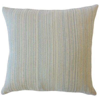 Voluntown Striped Down Filled Throw Pillow Size: 22 x 22, Color: Smoke