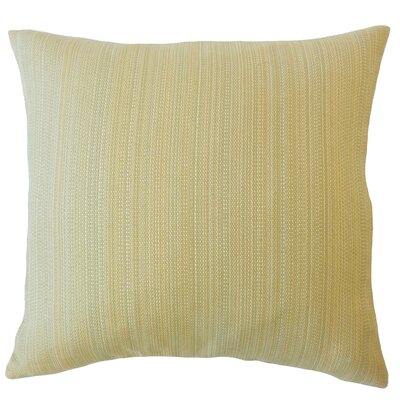 Voluntown Striped Down Filled Throw Pillow Size: 18 x 18, Color: Sand