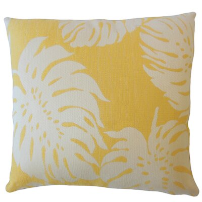 Maiah Floral Down Filled Lumbar Pillow Color: Sunshine