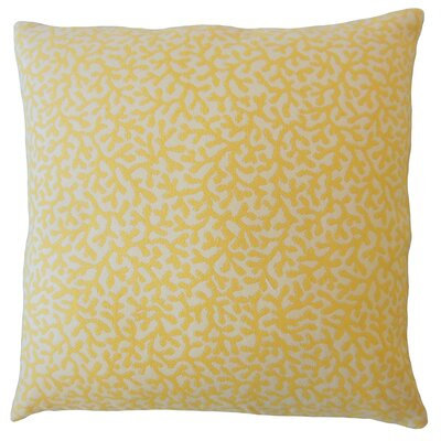 Hinsdale Coastal Down Filled Throw Pillow Size: 18 x 18, Color: Sunshine