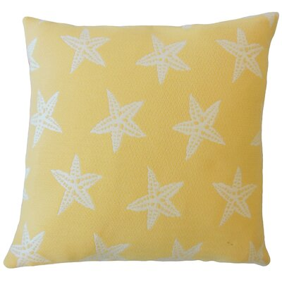 Plympton Coastal Down Filled Throw Pillow Size: 20 x 20, Color: Sunshine