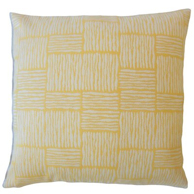 Latasha Striped Down Filled Throw Pillow Size: 24 x 24, Color: Sunshine