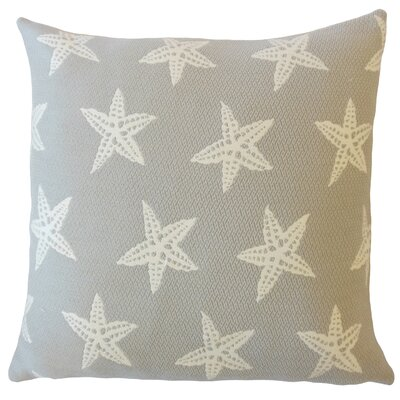 Plympton Coastal Down Filled Throw Pillow Size: 24 x 24, Color: Smoke
