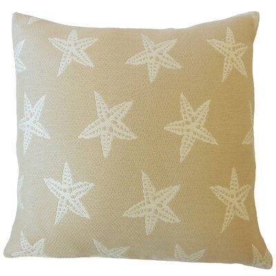 Plympton Coastal Down Filled Throw Pillow Size: 18 x 18, Color: Sand