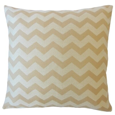 Shevlin Chevron Down Filled Lumbar Pillow Color: Shell