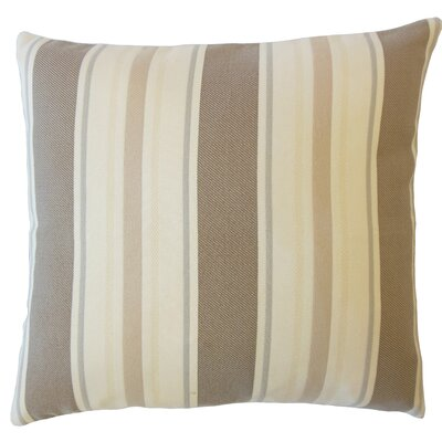 Jolana Striped Down Filled Lumbar Pillow Color: Driftwood