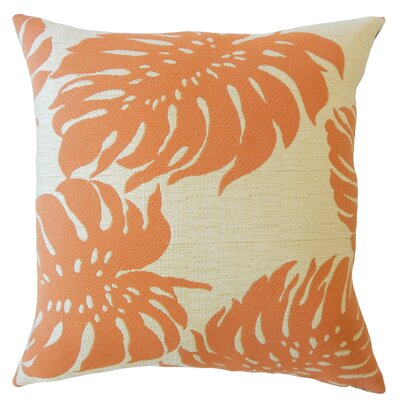 Maiah Floral Down Filled Throw Pillow Size: 18 x 18, Color: Mandarin