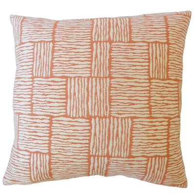 Latasha Striped Down Filled Throw Pillow Size: 24 x 24, Color: Mandarin