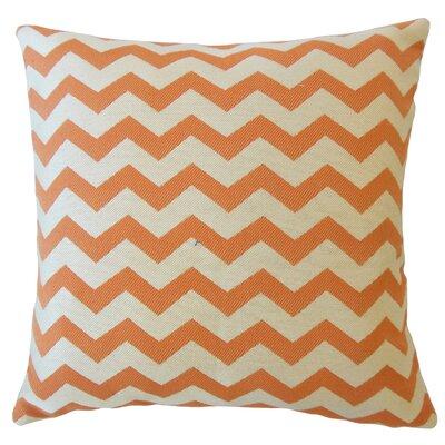 Shevlin Chevron Down Filled Lumbar Pillow Color: Mandarin