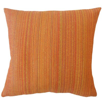 Voluntown Striped Down Filled Throw Pillow Size: 18 x 18, Color: Sunset