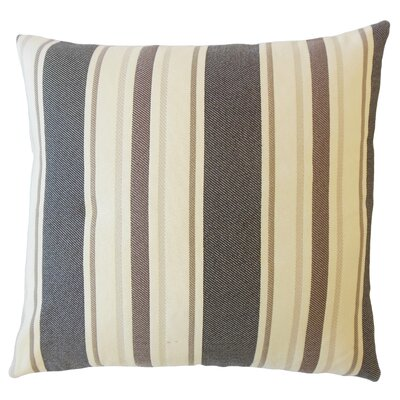 Jolana Striped Down Filled Throw Pillow Size: 24 x 24, Color: Granite