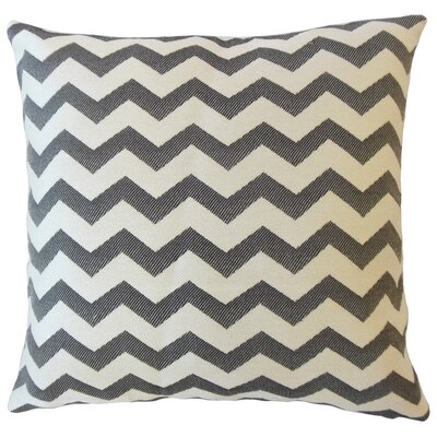 Shevlin Chevron Down Filled Throw Pillow Size: 24 x 24, Color: Cobalt