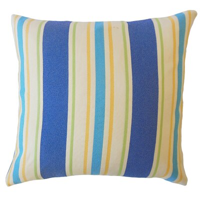 Jolana Striped Down Filled Lumbar Pillow Color: Blue