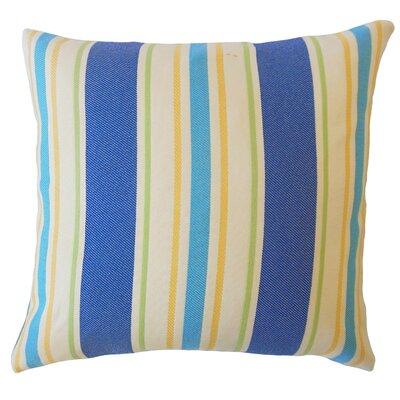 Jolana Striped Down Filled Lumbar Pillow Color: Blue