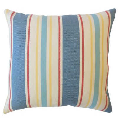 Jolana Striped Down Filled Lumbar Pillow Color: Cobalt
