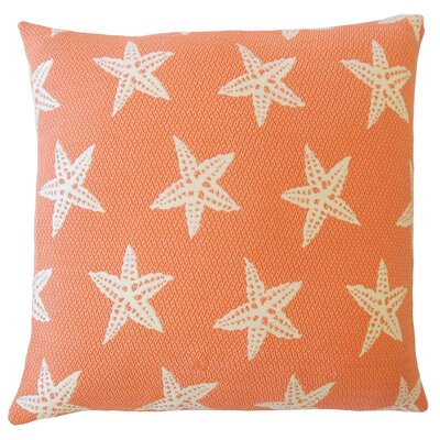 Plympton Coastal Down Filled Throw Pillow Size: 18 x 18, Color: Firecracker