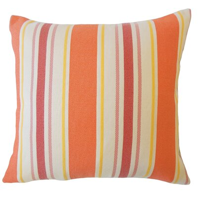 Jolana Striped Down Filled Lumbar Pillow Color: Sunset
