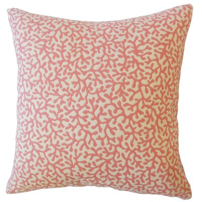Hinsdale Coastal Down Filled Throw Pillow Size: 18 x 18, Color: Coral