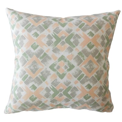 Carla Geometric Down Filled 100% Cotton Lumbar Pillow