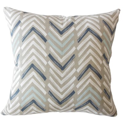 Kristine Geometric Down Filled 100% Cotton Lumbar Pillow Color: Driftwood
