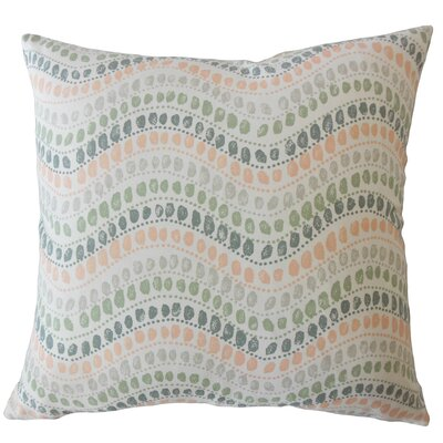Wiese Geometric Down Filled 100% Cotton Lumbar Pillow Color: Sundown