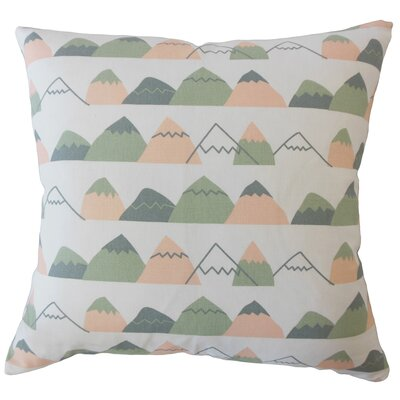 Wiggin Geometric Down Filled 100% Cotton Throw Pillow Size: 18 x 18
