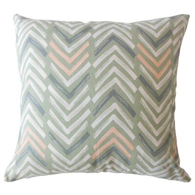 Kristine Geometric Down Filled 100% Cotton Throw Pillow Size: 18 x 18, Color: Sundown