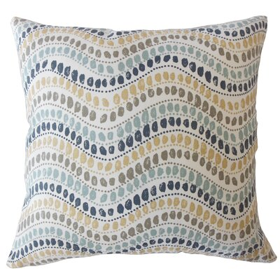 Wiese Geometric Down Filled 100% Cotton Throw Pillow Size: 22