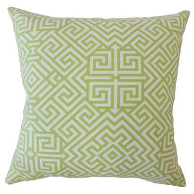 Wetherbee Geometric Down Filled 100% Cotton Throw Pillow Size: 18 x 18