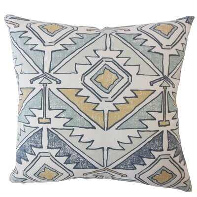 Bemiston Geometric Down Filled 100% Cotton Throw Pillow Size: 18 x 18, Color: Awendela