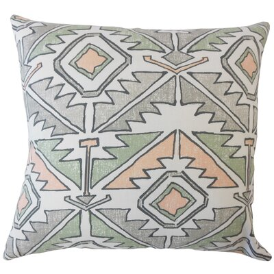 Bemiston Geometric Down Filled 100% Cotton Lumbar Pillow Color: Sundown