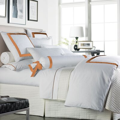 Sophia 2 Piece 300 Thread Count Egyptian Cotton Sheet Set Size: Queen, Color: White / Orange