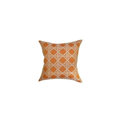 Daniele Cotton Throw Pillow Color: Orange, Size: 18 x 18