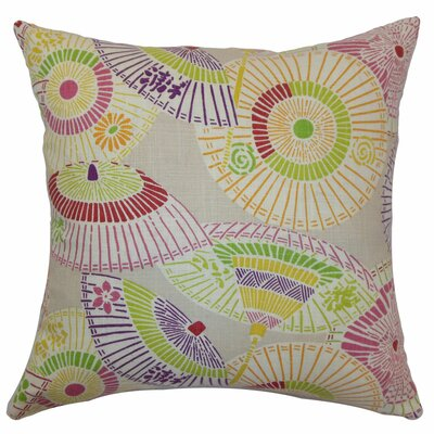 Ayesa Umbrella Throw Pillow Cover Size: 18 x 18, Color: Confetti