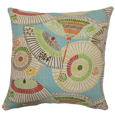 Ayesa Umbrella Throw Pillow Color: Multi, Size: 24 x 24