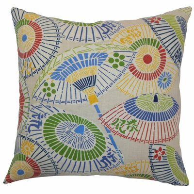 Ayesa Umbrella Throw Pillow Color: Primary, Size: 18 x 18