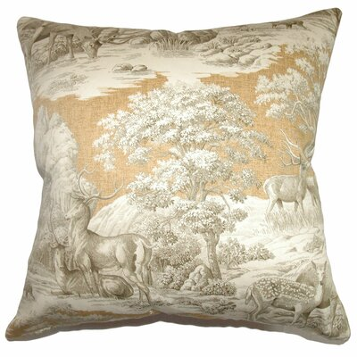 Elijah Toile Bedding Sham Size: Euro, Color: Safari Back