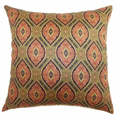 Heihe Paisley Cotton Throw Pillow Color: Red / Green, Size: 18 x 18