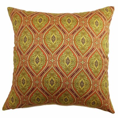 Heihe Paisley Cotton Throw Pillow Color: Poppy Red, Size: 18