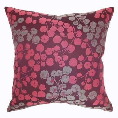 Fleur Floral Throw Pillow Size: 18