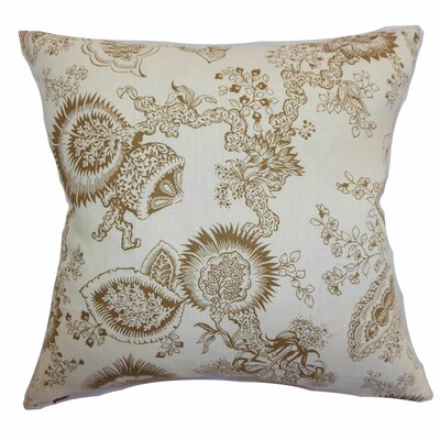 Paionia Floral Bedding Sham Size: Queen, Color: Cocoa
