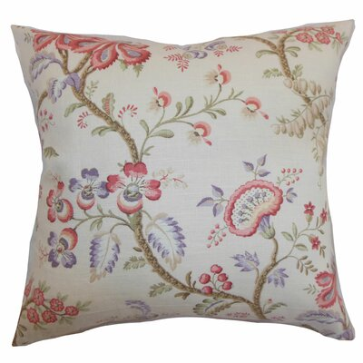 Quesnel Floral Throw Pillow Color: Pastel, Size: 18