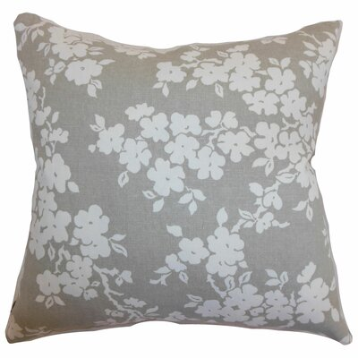 Vieste Floral Throw Pillow Color: Smoke, Size: 18 x 18